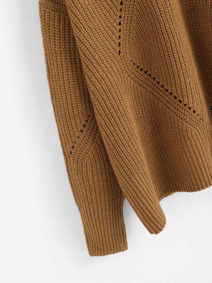 Plus Crisscross Eyelet Insert Sweater