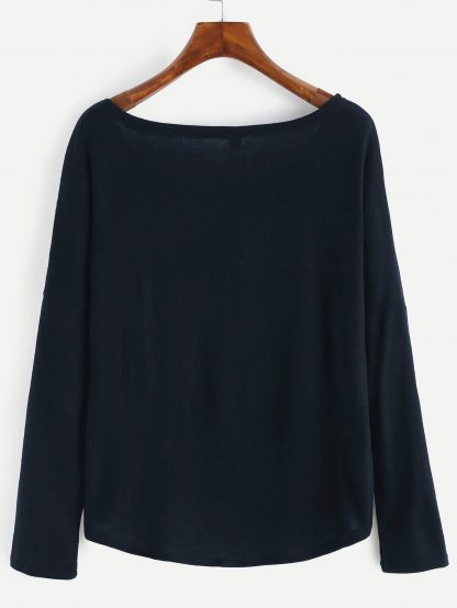 Plus Solid Drop Shoulder Jumper