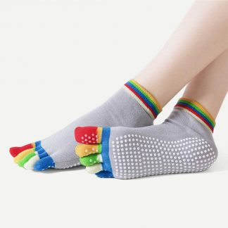 Random Color Yoga Non-slip Massage Five Toe Socks