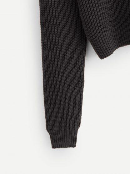 Plus Rolled Neck Raglan Sleeve Jumper