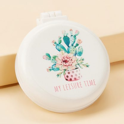 Flower Pattern Comb With Mirror