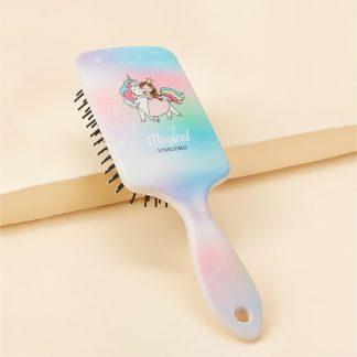 Unicorn Pattern Massage Hair Comb