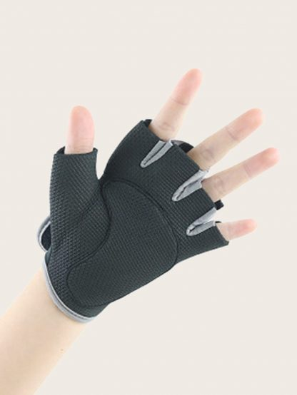 Cut Out Decor Fingerless Gloves 1pair