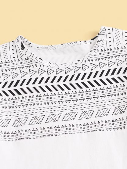 Boys Tribal Print Tee With Shorts
