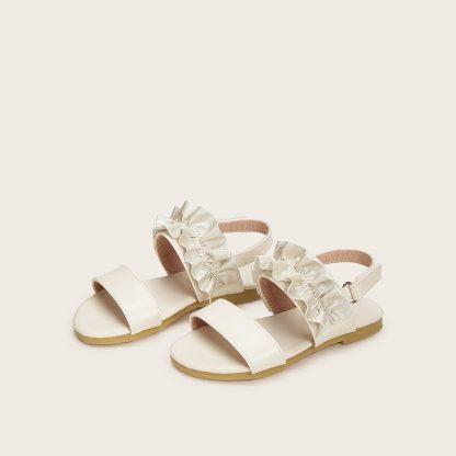 Toddler Girls Ruffle Decor Slingback Sandals